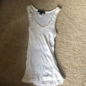 express lined white tank